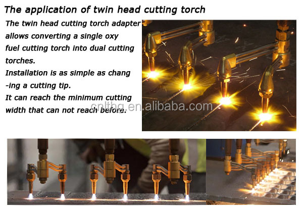 Two Head Cutting Torch for High Efficient Oxyfuel Cutting