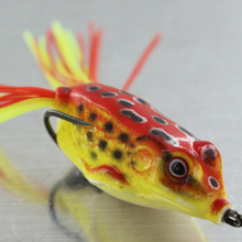 China Artificial Soft Plastic Jump Frog Fishing Lure, Wholesale 20color 5G 8G 12G 3D Eyes Lure Fishing Bait