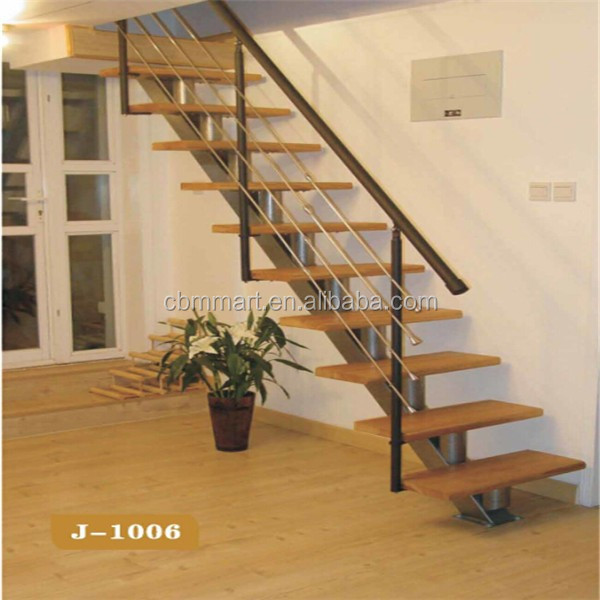 used metal stairs with wood steps H57