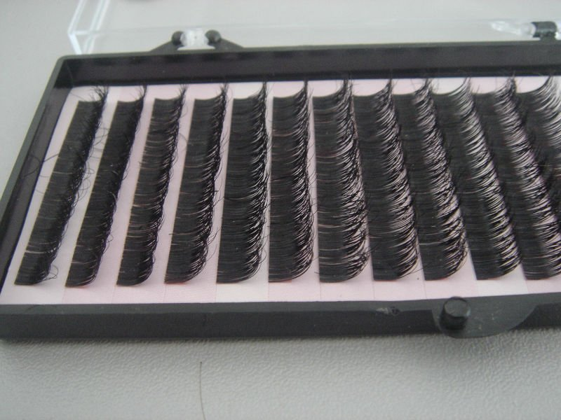 Qingdao eyelash factory wholesale silk fiber individual eyelashes