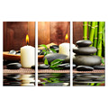 3 Pieces/Zen Candle Light Canvas Painting/Bamboo Pictures Canvas Print/ Slow life Canvas Printing for House Decoration