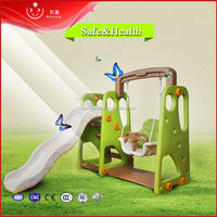 Indoor good price multifunctional swing slides plastic playground
