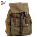 Canvas travelling backpack outdoor durable bag