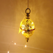 led light golden mercury glass ball made in China