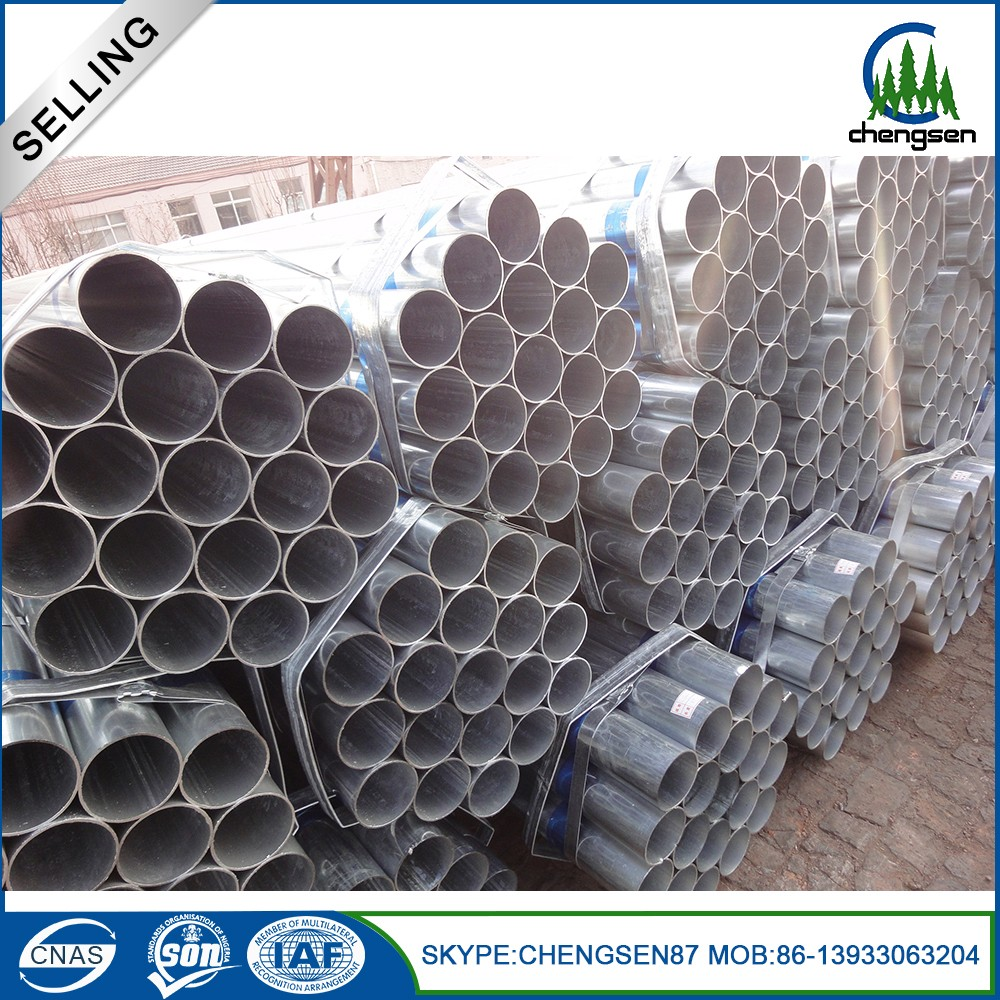 Myp price of galvanized steel round pipe for building material on sale