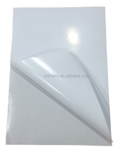 Glossy white A4 self adhesive paper for inkjet memjet printing
