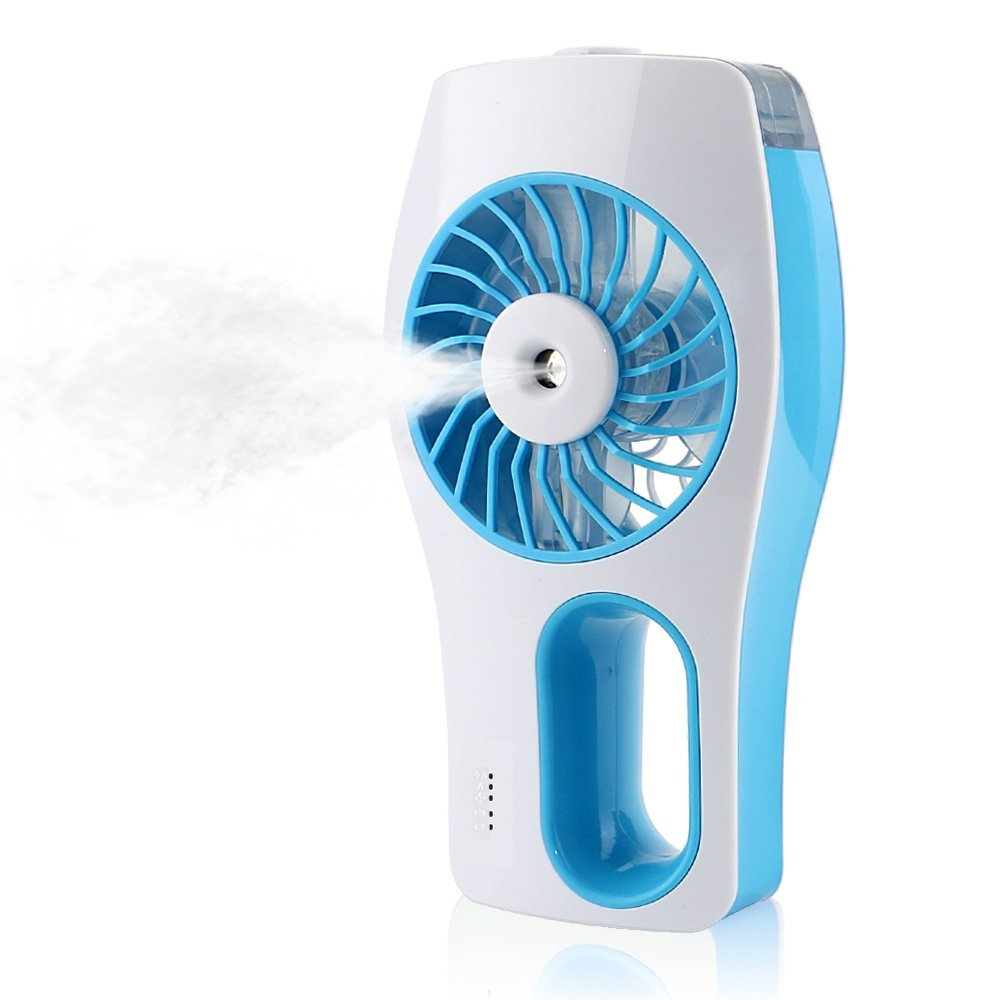 Portable Mini Air Mist Fan Humidifier Face Water Spray Fan
