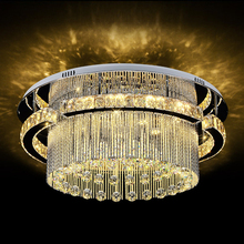 Luxury Elegant K9 Crystal LED Ceiling Light Chandelier for Hotel Hall Decoration