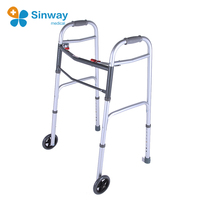 Universal Adult Folding Walker With Wheels