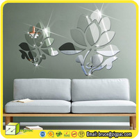 For flexible adhesive star decal sheet decor ikea diy acrylic glass frame 3d clock wall mirror sticker
