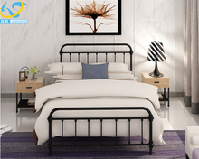 High quality metal cal king round size platform double bed