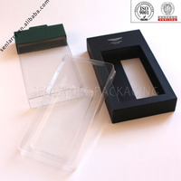 OEM design paper handle iphone case packaging box with PVC window