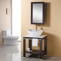Lavatory Furniture Wash Basin Cabinet with Bath Mirror