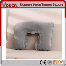 2017 new product 27X44cm gray color Travel self inflatable wedge travel pillow