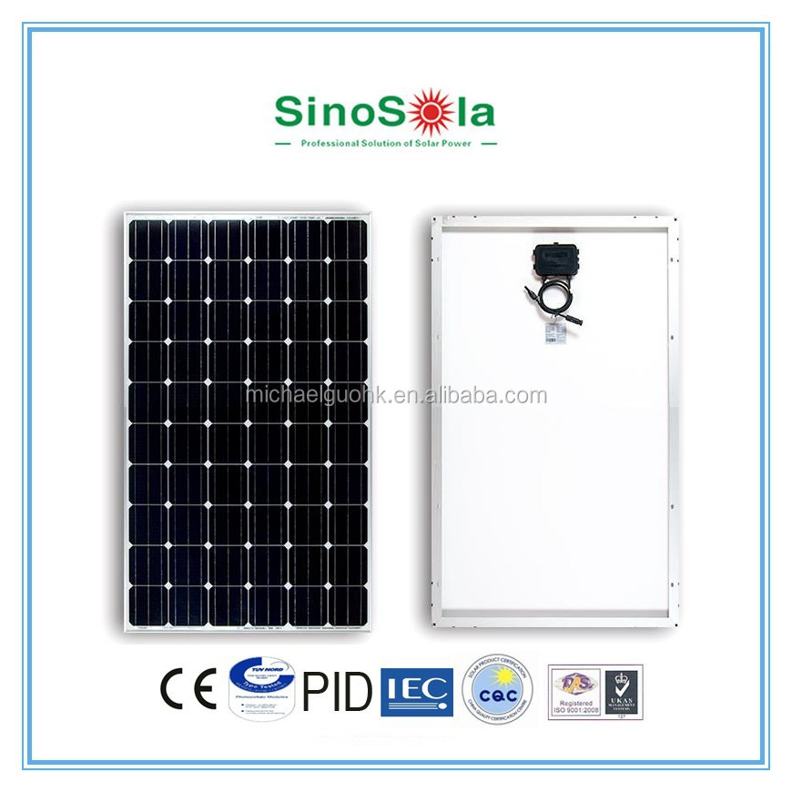 High quality monocrystalline cell mono 250w solar panel PV Module for solar system with TUV/PID/CEC/CQC/IEC/CE