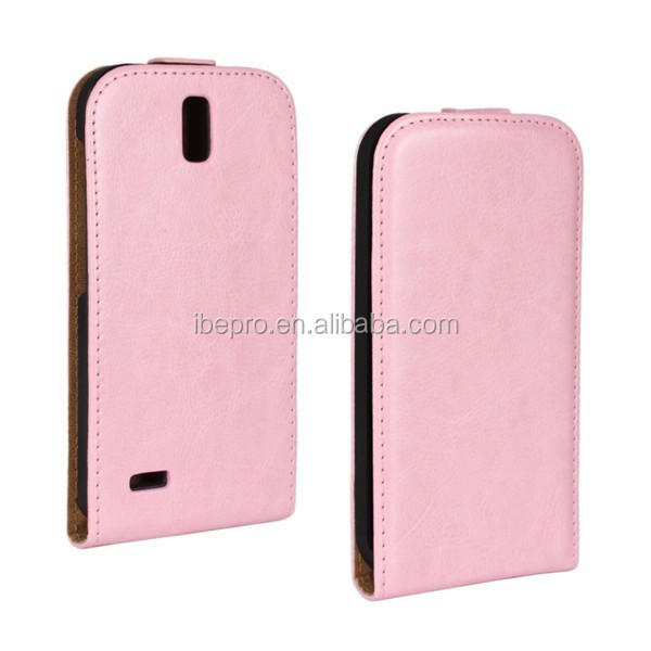 2014 Hot Selling Pu Slim Flip Cover for Huawei G610 Cell Phone Case