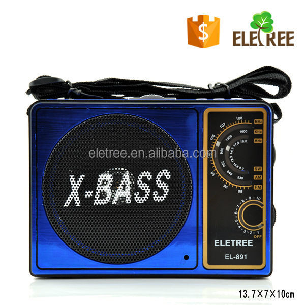 Battery Powered 'Classic' AM/FM Portable Radio with USB SD Card slot EL-891B
