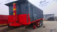 Hot selling tipper trailer aluminium tipper trailer with 2 wheel