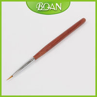 BQAN Rosewood Handle Art Design Nylon Hair Hand and Nail Brush