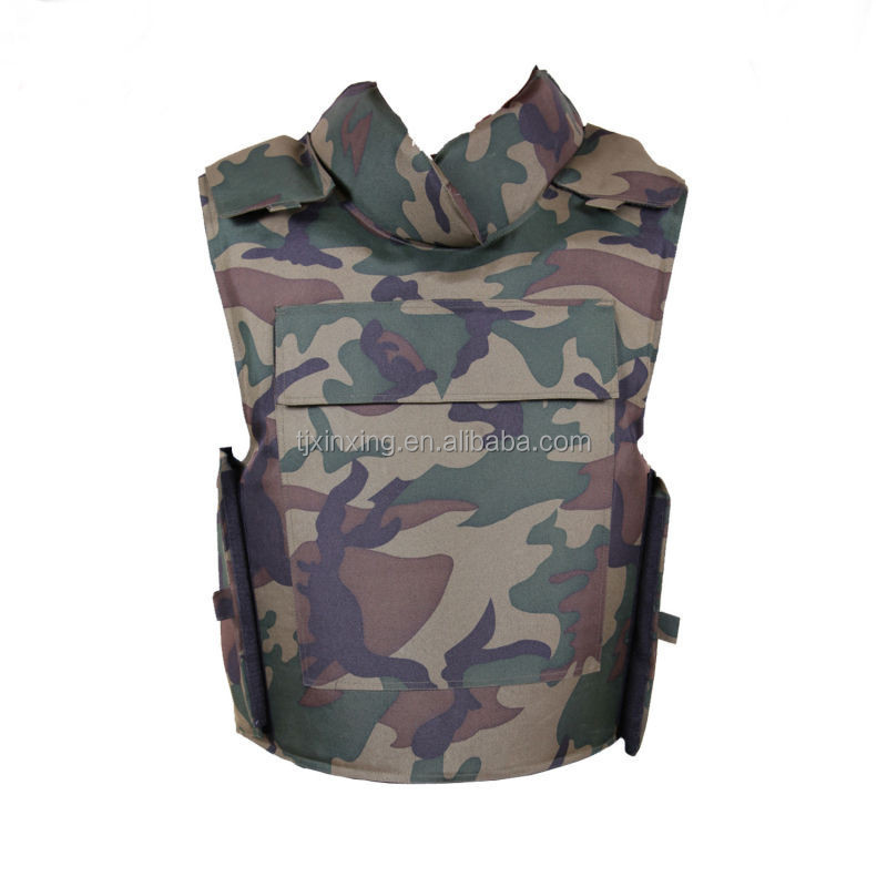 Cheap military tactical level 4 aramid camouflage ak 47 bullet proof vest