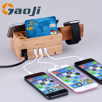 Hot selling Wooden Charging for Smart Watch and Mobile Phone Dock Holder Station W902 Exclusive design