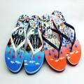 two color way pvc strap material high elastic eva magic castle printing flip flip sandals