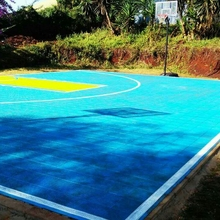 Outdoor basketball court design marking materials