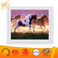 new design 5d crystal diamond painting kit Strong horses home decor diamond painting PD(B)(75)