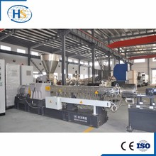 Co-rotating plastic pp grain making twin screw extruder/Air Cooling Hot Face Cutting Machine for PP PE ABS Granule