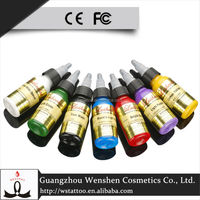 WS Permanent Makeup Cosmetics Company Supply Best Quality Glitter Tattoo Ink