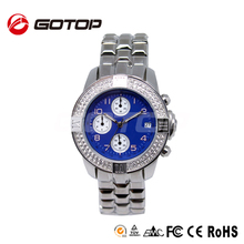 Luxury Quartz Stainless Steel Back Sapphire Watch Swiss