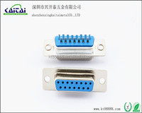 d-sub db 15 pin solder type connector DB15p hoods