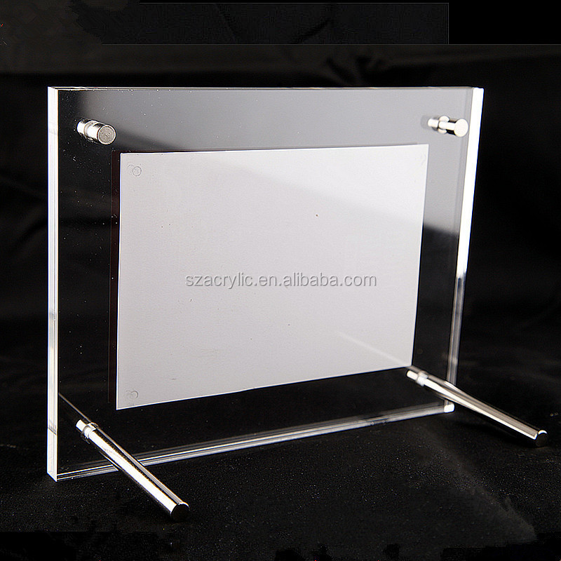 Acrylic wall mount table style photo frame for displaying and collecting puzzle works