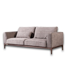 Foshan <strong>Furniture</strong> Factory Selling Small Flat Three Seats Fabric Sofa
