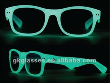 glow in the dark glasses,luminous/noctilcent/fluorescent glasses
