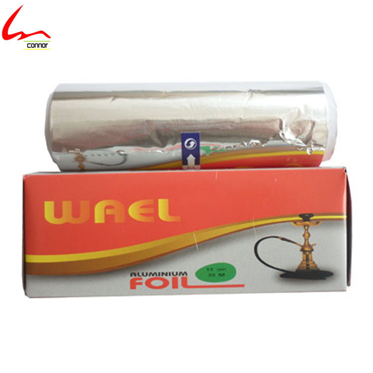 Top Grade Thick Aluminum Foil 25 micron Shisha Roll For Smoking