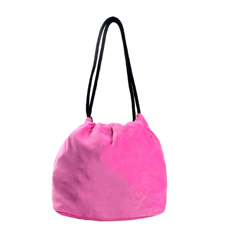 fashion pink flannel handbag tote bag