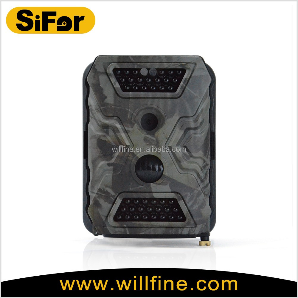 PIR motion activated IR black flash night vision outdoor waterproof game camera