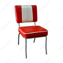 Retro 1950s diner chair,metal frame with leather retro diner 1950s chair