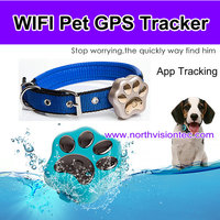 New style Dog gps tracker with 400mAh battery and Smart rolling LED light for dog/cat/cow