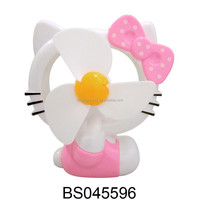 New Products 15% OFF Hello Kitty Electric Battery Operated Mini Fan/ Standing Fan/ Rechargeable Air Condition Fan with USB Wire