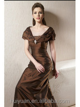 brown cap sleeve mother of the groom dresses