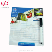 custom design logo promotional gifts wholesale dry erase writing board wtih pen
