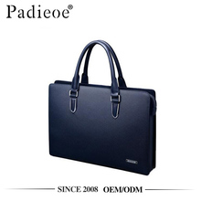 Padieoe NB151226-1 Hard stylish navy blue saffiano pattern mens leather briefcase