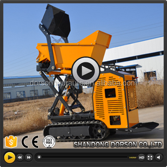 Self-loading mini dumper / crawler / gasoline