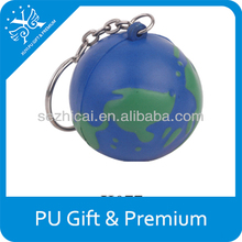 pu globe ball keychain pu foam anti stress globe keychain,promotional stress earth ball keychain,pu stress keychain