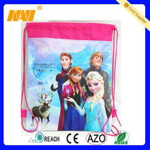 Wholesale full color printing drawstring cotton bag