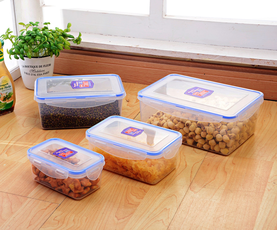 pp wholesale household 3.7L large size plastic collapsible airtight waterproof food storage container with lids