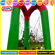 ZZPL Multi player air bouncer inflatable bungee trampoline for sale from China