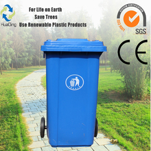 Outdoor color coded garbage bins 120 litre outdoor garbage bin
